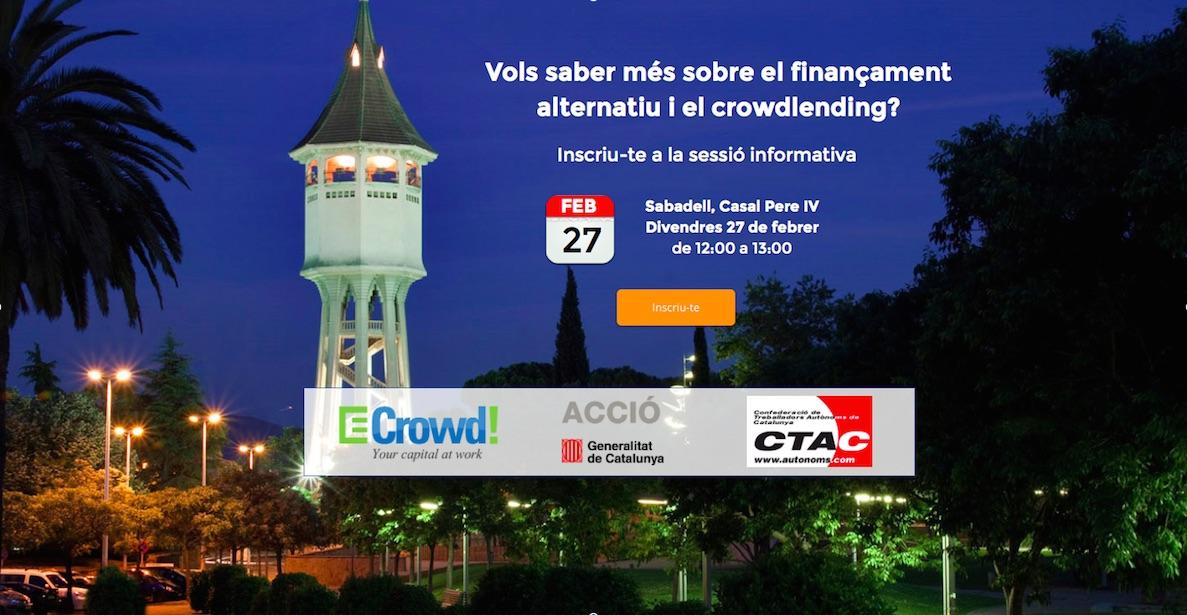 Sabadell ECrowd finançament alternatiu