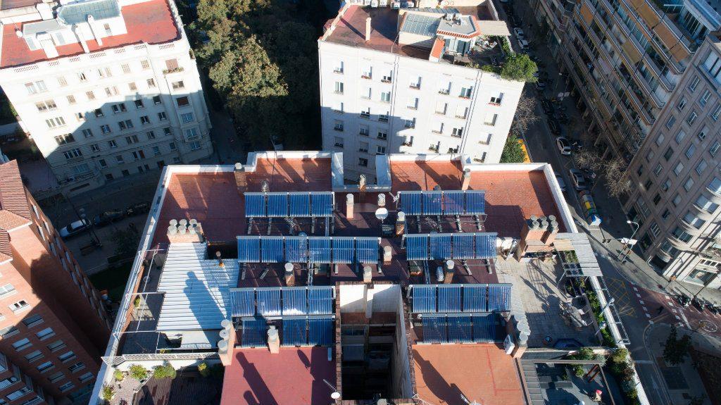Solar térmica en la comunidad de propietarios de Barcelona